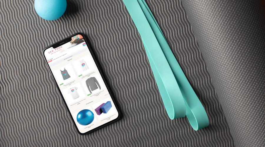 yoga studio online store pop up omg