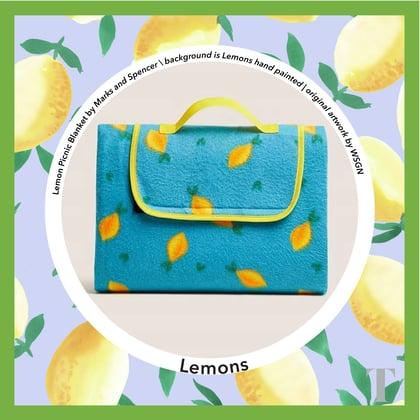 Lemon Picnic Blanket Product