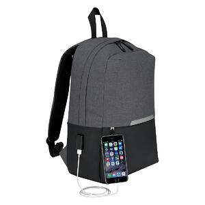 Computer Backpack with Charging Port Promotional Product OMG