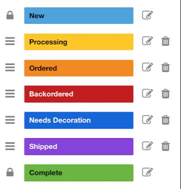 Custom Statuses OMG Online Store