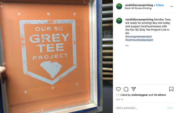CTP Rock Hill Screen Printing Social Post