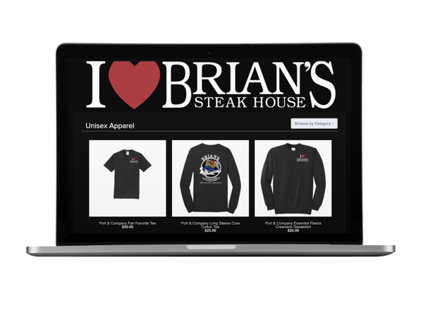 Fundraiser Campaign Brian's Steak House OMG online store