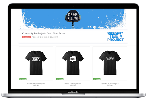 OMG online store community tee project