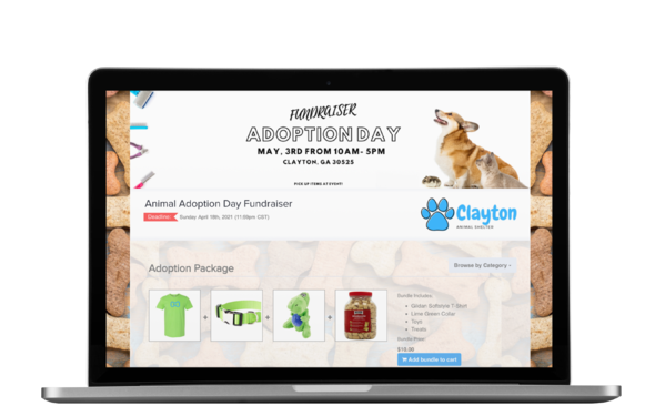 pet adoption online store fundraiser ordermygear