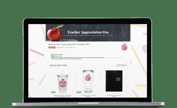 ordermygear online store teacher appreciation fundraiser