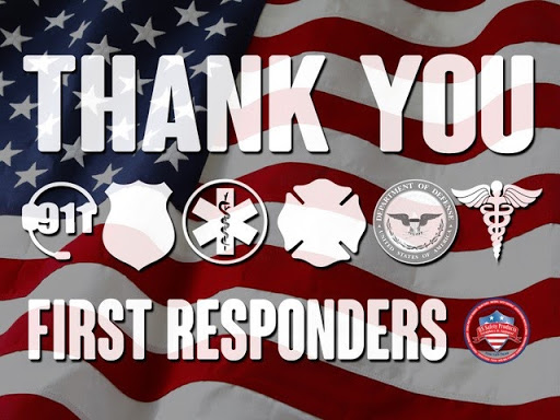 Thank You First Responders US Safety Products Sign