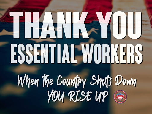 Thank You Essential Workers Sign US Safety Products
