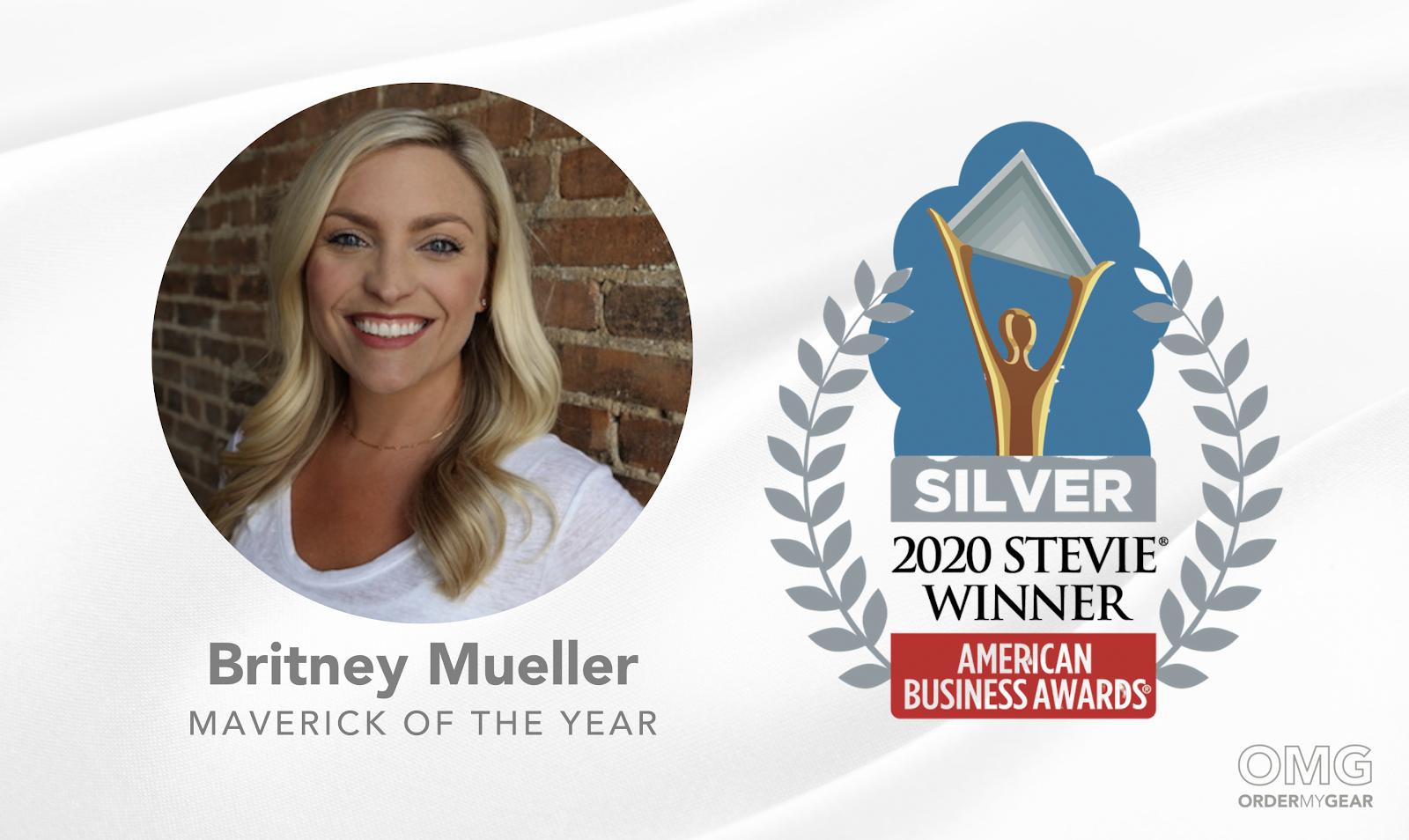 OMG Britney Mueller Stevie Award Winner