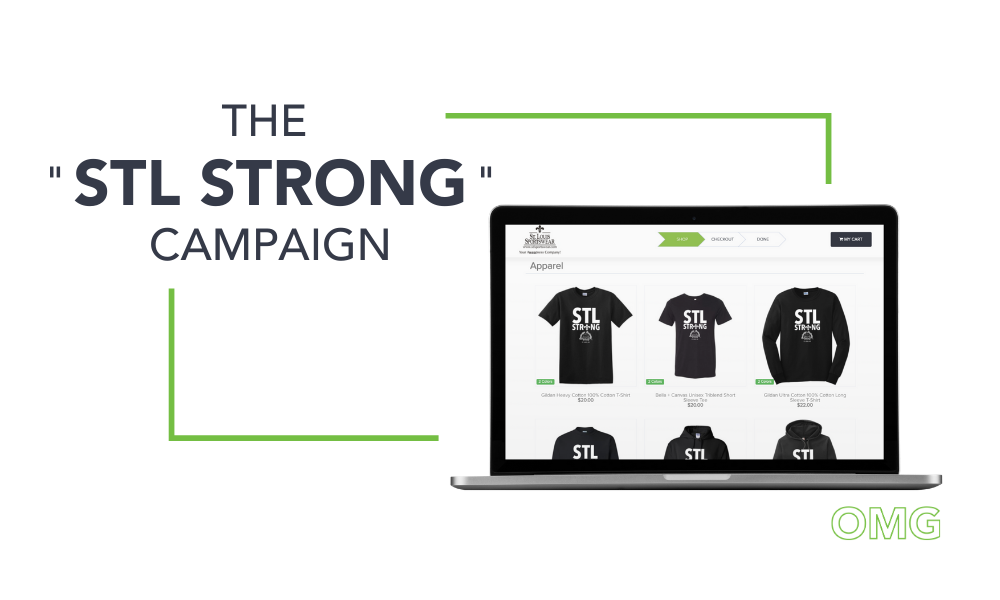 STL Strong online pop-up store fundraiser campaign OMG