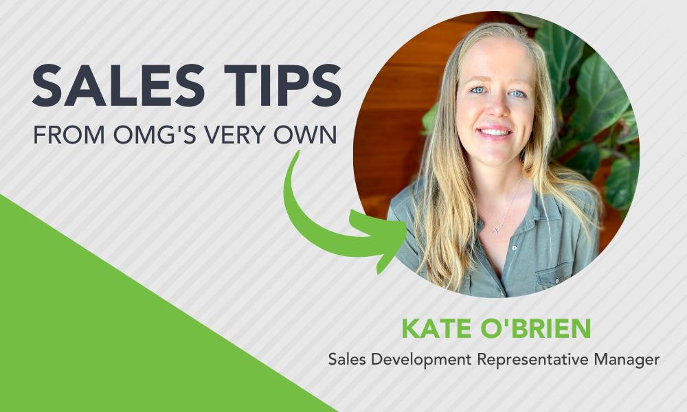 OrderMyGear Kate O'Brien Sales Development Representative Manager